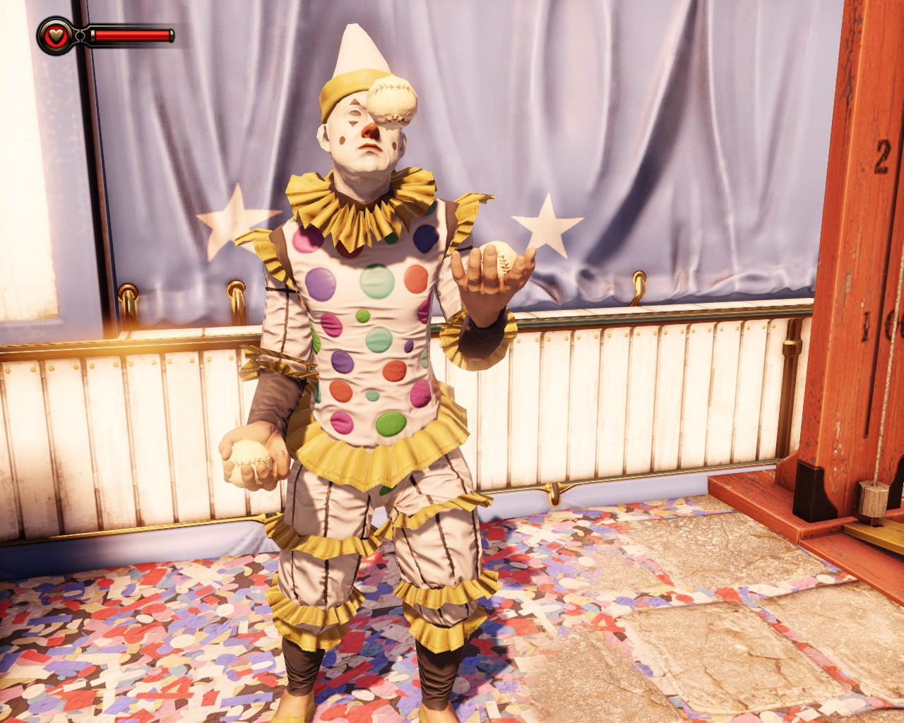 When you're feeling down, stare at a clown.
